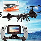HB HOMEBOAT U818S-WIFI818 6-Axis Gyroscope RC Quadcopter with FPV Camera and Remote Control,  46.8 x 46.8 x 12 cm, Black