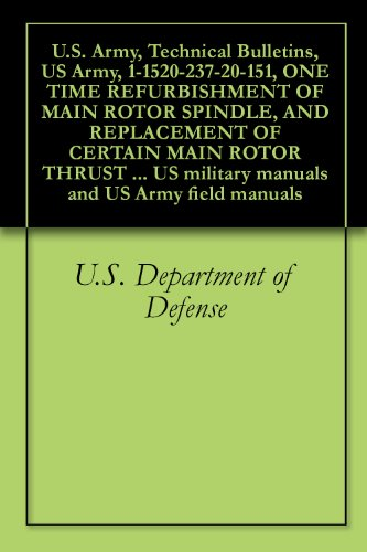 U.S. Army, Technical Bulletins, US Army, 1-1520-237-20-151, ONE TIME REFURBISHMENT OF MAIN ROTOR SPINDLE, AND REPLACEMENT OF CERTAIN MAIN ROTOR THRUST ... military manuals and US Army field manuals