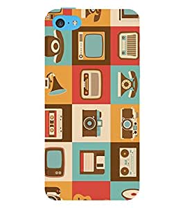 printtech Retro 90's Theme Back Case Cover for Apple iPhone 5