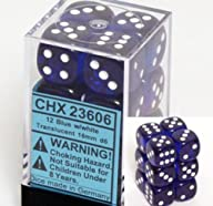 Chessex Dice d6 Sets: Blue with White…
