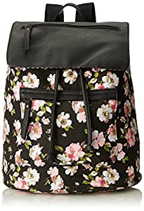 Madden Girl Bposter Backpack, Black Floral Multi, One Size