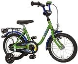 "Kinderfahrrad 14"" Zoll SPLAAASH grün blau Stützräder"