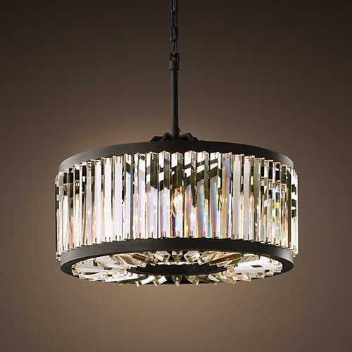 Lightinthebox Crystal Pendant, 8 Light, Vintage Metal Painting Morden Simple Home Ceiling Light Fixture