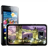 Fancy A Snuggle Tower Bridge At Night London Design Hard Case Clip On Back Cover for Samsung Galaxy S2 i9100