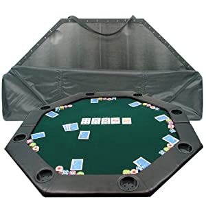 Trademark Poker 52-Inch 8-Player Octagonal Padded Poker Tabletop (Green)