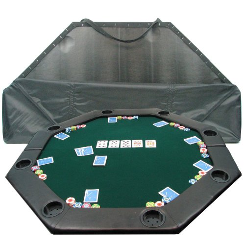 Trademark Poker 52-Inch 8-Player Octagonal Padded Poker Tabletop (Green)