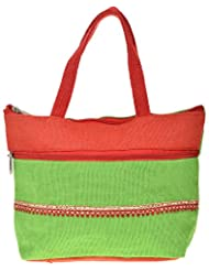 Saran Jute Bags Women's Multi Color Jute Handbag (SJB_60)