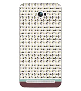 PrintDhaba Owl Pattern D-1683 Back Case Cover for ASUS ZENFONE MAX ZC550KL (Multi-Coloured)