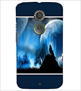 PrintDhaba Night Sky View D-1304 Back Case Cover for MOTOROLA MOTO X2 (Multi-Coloured)