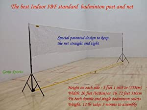 Genji Sports Portable Indoor Badminton Posts and Net