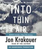 Jon Krakauer Into Thin Air: A Personal Account of the Mt. Everest Disaster