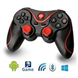 Android Bluetooth Game Controller T3 Wireless Gamepad Rechargeable Joystick for Android Phone Pad TV,TV Box with Android Platform 3.2 or Above