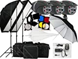 540w Studio Flash Lighting set 3 x 180 watt Light Kit