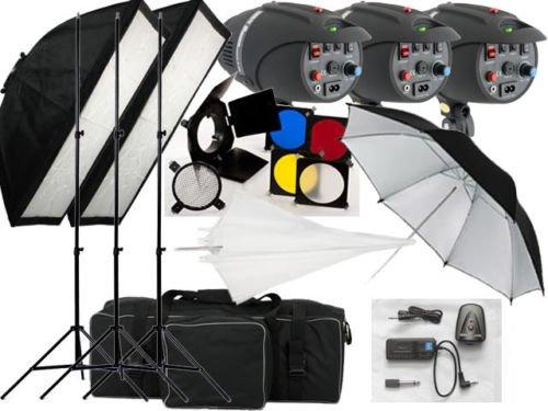 540w Studio Flash Lighting set 3 x 180 watt Light Kit Black Friday & Cyber Monday 2014