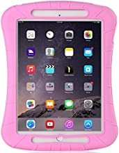 iXCC ® Shockproof Silicone Case Cover for All Apple iPad Air Models, Extreme Heavy Duty [Drop Proof, Kids Proof, Shock Proof, Anti slip] High Quality Rubber Soft Gel Material Offers Robust Protection for Kids, Baby, Children, Boys and Girls [Pink]