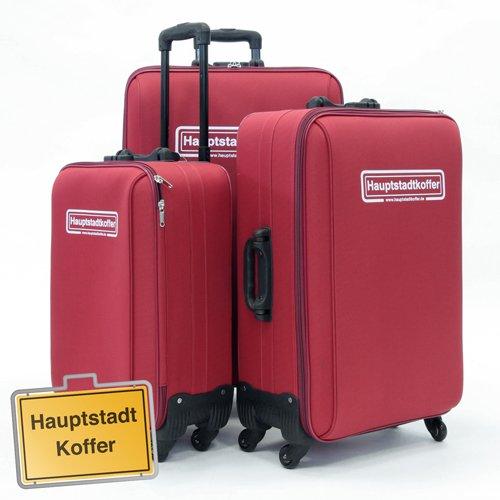 3er Set Softcase Kofferset Dunkelrot von Hauptstadtkoffer