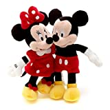 Disney Cuddling Mickey And Minnie Mouse 20cm Soft Plush Toy