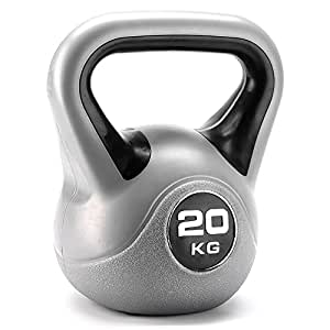 York Fitness Vinyl Kettlebell, Black, 20 kg