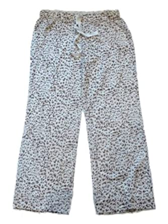 Gilligan O'Malley Womens Animal Print Sleep Pants Leopard Pajama Bottoms PJs Lg