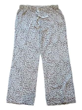 Gilligan O'Malley Womens Animal Print Sleep Pants Leopard Pajama Bottoms PJs Lg
