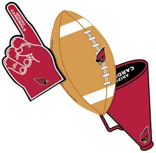 Eureka NFL Arizona Cardinals Assorted Paper Cut-Outs