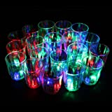 LED-Cube® 24 Flash Light Up Cups Flashing Shots Light 24 LED Bar Night Club Party Drink