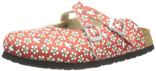 Birki Girls DORIAN BF DD MINNIE Clogs And Mules Red Rot (FLOWER PATTERN RED) Size: 39