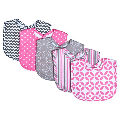 Trend Lab Lily 5 Pack Bib Set, Lily