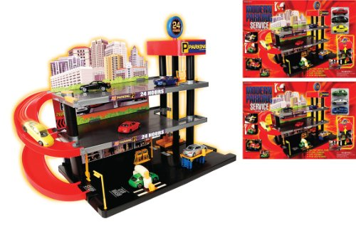 Toy garages: Modern Parking Garage Service Playset With 3 Die Cast ...