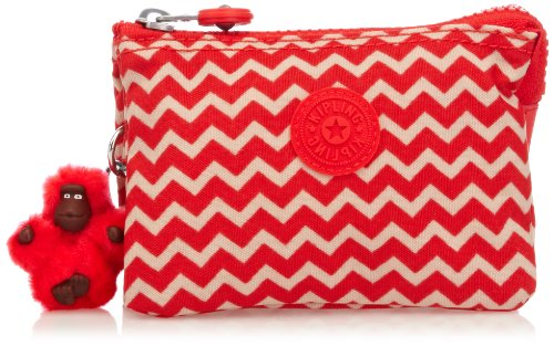 Kipling Womens Creativity S Purse K01864A90 Chevron Red PR