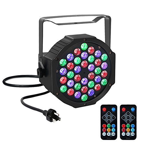 YeeSite Par Light with 36 LED for DJ Stage Lighting by IR Remote Control and DMX512 (Stage Light Mixer compare prices)