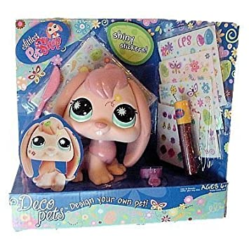 Littlest Pet Shop Deco Pets Pink Bunny by Hasbro
