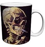 Vincent Van Gogh Skull Cigarette Fine Art Ceramic Gift Coffee (Tea, Cocoa) 11 Oz. Mug