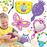 Craft Kits Best Sellers Pack. Save 33% when bought in pack! Includes 3 cupcake purse sewing kits, 4 princess mirror kits, 2 owl cushion sewing kits, 6 butterfly stained glass effect decoration kits and 4 owl bead bracelet kits.