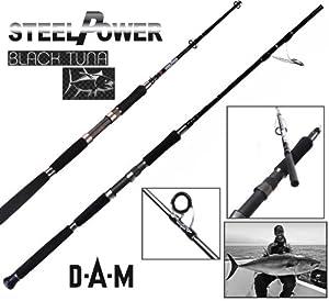 DAM Steelpower Black Tuna - Canne en mer, 2.40m, 40-60lb, 2-brins