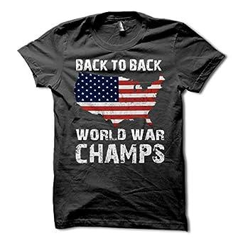 Amazon Com Back To Back World War Champs Usa T Shirt