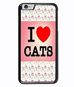 PRINTVISA I m Cat Premium Metallic Insert Back Case Cover for Apple Iphone 6 Plus - D6009