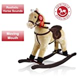 Heritage Deluxe 68cm Rocking Horse With Sounds Moving Picture
