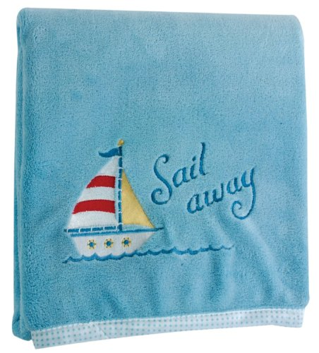 Manual Woodworkers & Weavers Sail Away Fleece Baby Throw - 1