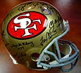San Francisco 49'er Greats Autographed PSA/DNA Authentic Full Size Helmet With 19 Signatures Including Joe Montana, Jerry Rice & Steve Young – Signed Full Size Helmets