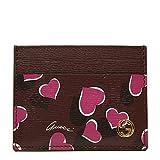 Gucci Heartbeat Purple Leather Card Case Wallet 334483