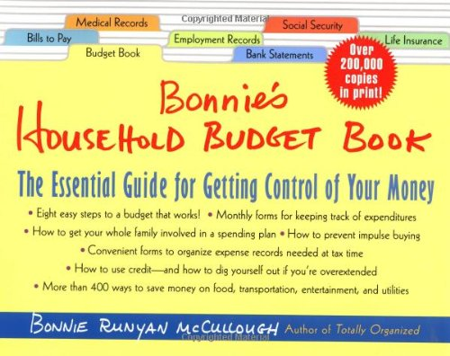 bonnie u0026 39 s household budget book  the essential guide for