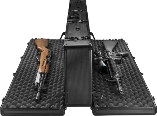 Barska BH11982 Loaded Gear AX-400 Hard Rifle Case, Black, Black