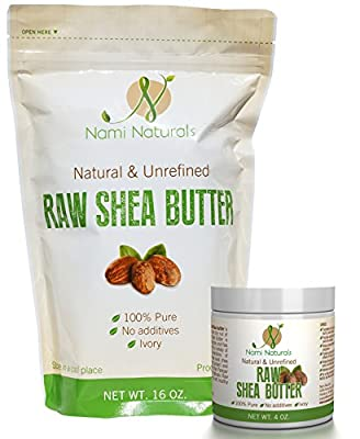 Pure Raw Shea Butter - Bonus E-book - Great Whipped, As Lotion, & Cream - Use It On Acne, Stretch Marks, Eczema, & Psoriasis - Moisturizer For Dry Hair - Safe On Sensitive Skin
