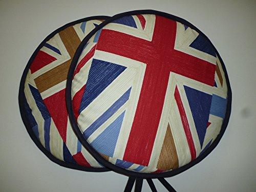 Pair of Vintage Union Jack 'Blighty' Range Cooker Hob Lid Covers Hob Top Pads