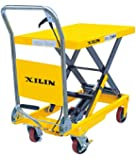 Xilin SP150 Mobile Hydraulic Scissor Lift Table Truck 330LBS Capacity-29In Max. Lift Height