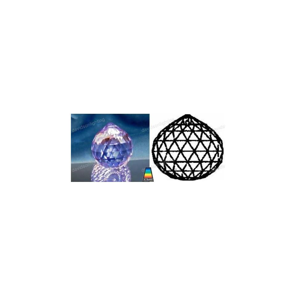 e1df9d311 Swarovski Strass Blue Violet Crystal Ball With Lazer Logo Etched 30mm