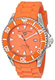 Swiss Legend Mens 21344-06 Luminous Royal Orange Dial Silicone Band Watch