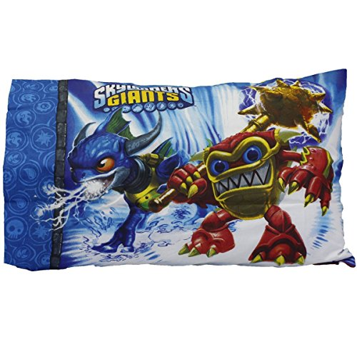 Skylanders Giants Sky Friends Cotton Rich Reversible Standard Pillowcase - 1