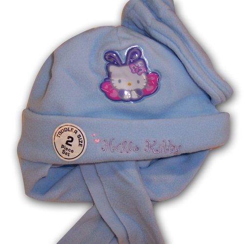 Sanrio Hello Kitty Girls Light Blue Fleece Hat with